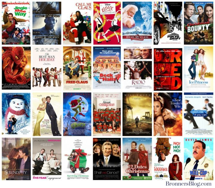Movie Posters: Jingle All The Way, Enemy Of The State, Call Me Claus, Eloise At Christmas Time, Santa Clause 3, The Fast And Furious; Tokyo Drift, Christmas Bounty, Spider-man 2, The Best Man Holiday, Fred Claus, Deck The Halls, Radio, RED, Ice Princess, Jack Frost, How To Lose A Guy In 10 Days, The Grinch, Almost Christmas, I Am Legend, The Time Traveler's Wife, Catch Me If You Can, Serendipity, The Five-Year Engagement, Surviving Christmas, Shall We Dance, 12 Dates Of Christmas, Christmas With The Kranks, Paul Blart Mall Cop