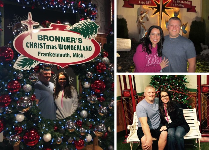 Holly Noel And Husband Visiting Bronner's Christmas Wonerland In Frankenmuth, Michigan