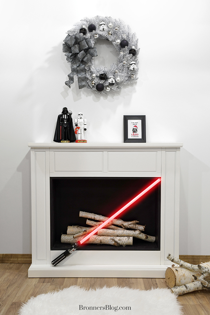 Star Wars the Dark Side and Empire Christmas mantle decor