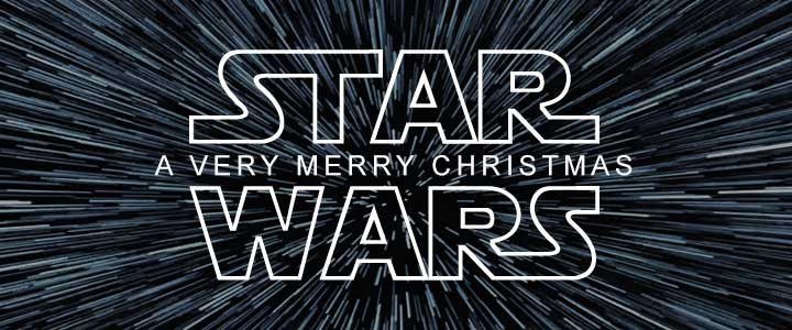 Star Wars A Very Merry Christmas Graphic Banner