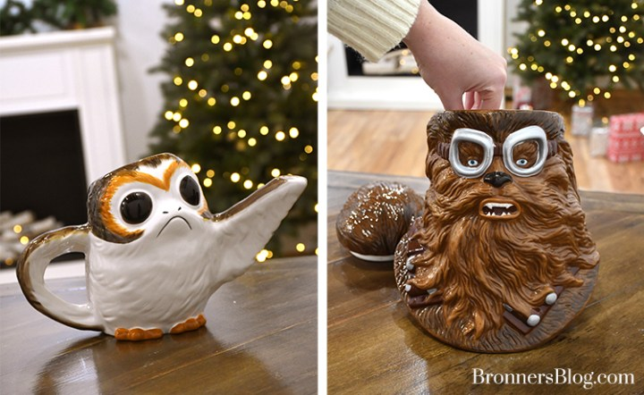 Porg Teapot and Chewbacca With Pilot Goggles Cookie Jar