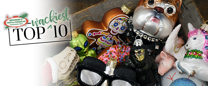 2018 TOP 10 Wackiest Christmas Ornaments At Bronner's!