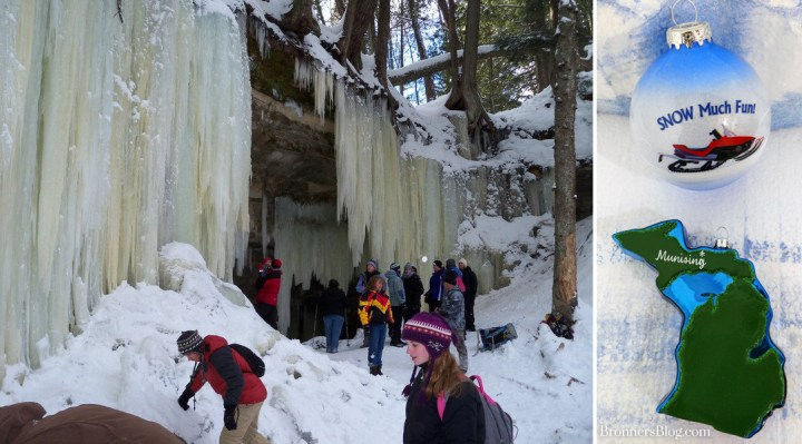 Eben Ice Caves In Michigan And Snow Mobile Fun In Munising, Michigan.