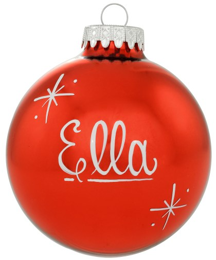 Personalized Plain Design Exclusive Glass Ornament from Bronner's Christmas Wonderland