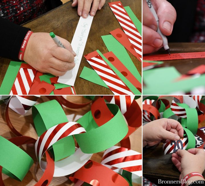 DIY Paper Chain Garland Christmas Countdown