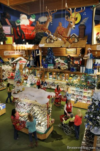 Bronner's Christmas Wonderland in Frankenmuth, Michigan