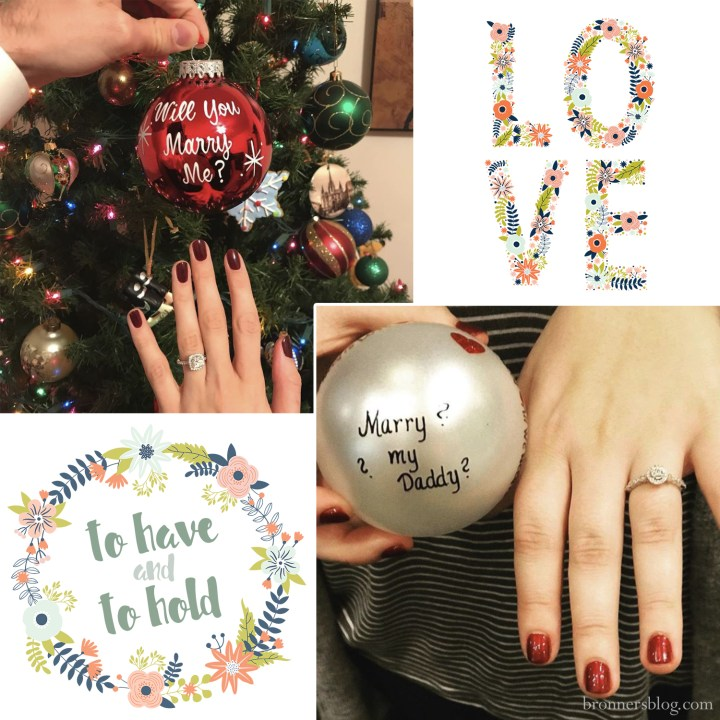 Will you marry me personalized ornaments
