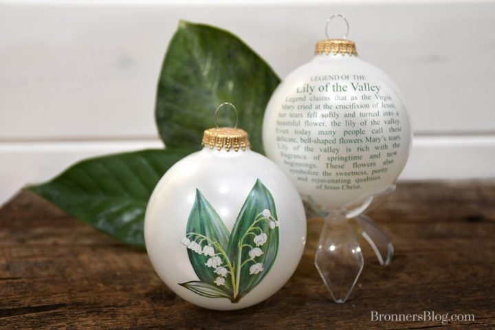 Legend of the Lily of the Valley ornament exclusively designed for Bronner's Christmas Wonderland.