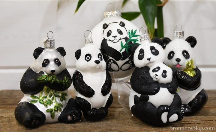 Legend of the Panda ornaments available at Bronner's Christmas Wonderland