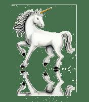 Unicorn custom art from Bronner's Christmas Wonderland