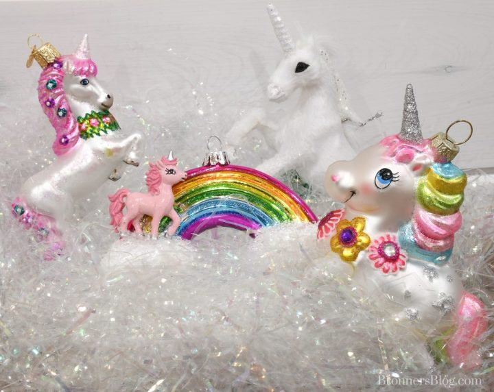 Legend of the Unicorn ornaments from Bronner's Christmas Wonderland