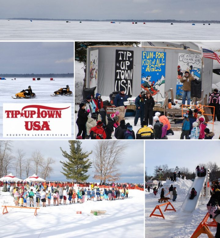 Tip Up Town USA Winterfest features ice fishing, snowmobile drags, carnival rides and a polar bear dip.