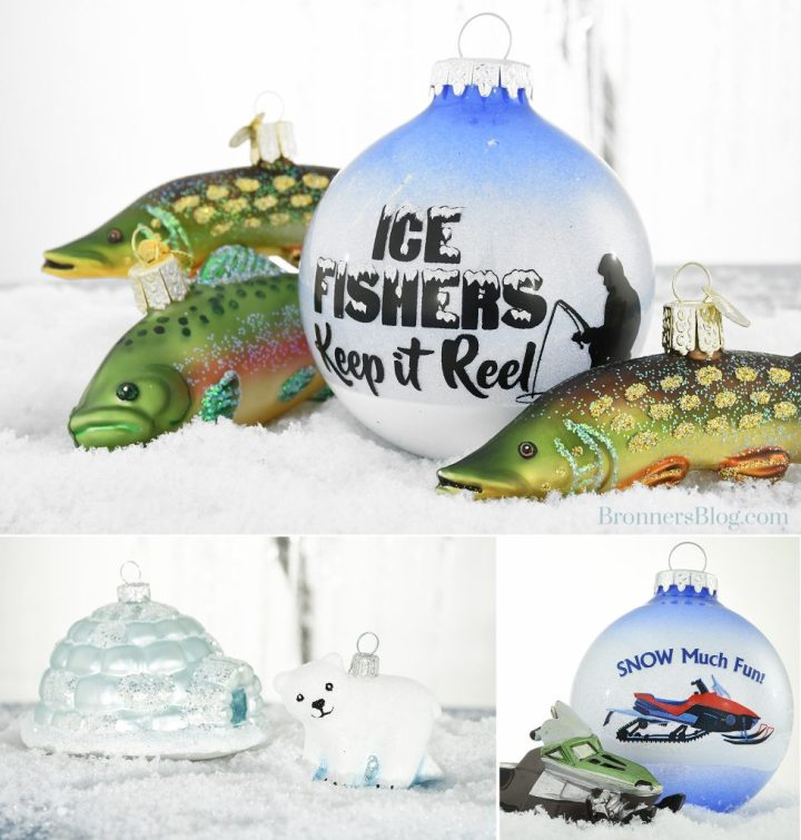 Bronner's Christmas Ornaments Celebrate Michigan's Largest Winter Festival, Tip Up Town USA.