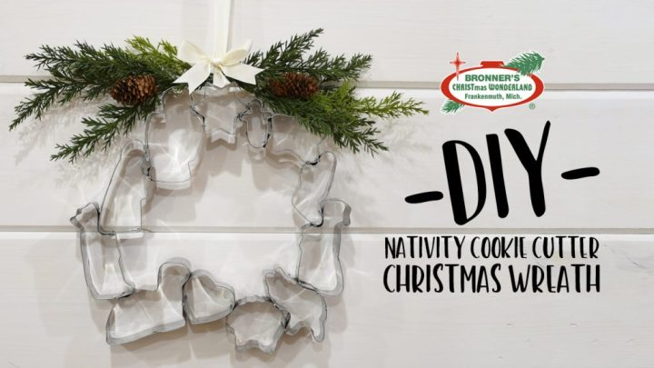 Do It Yourself Nativity Cookie Cutters Wreath