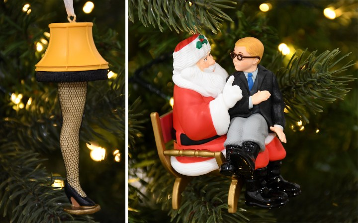 "Hallmark's ""A Christmas Story"" ornaments are available at Bronner's Christmas Wonderland."