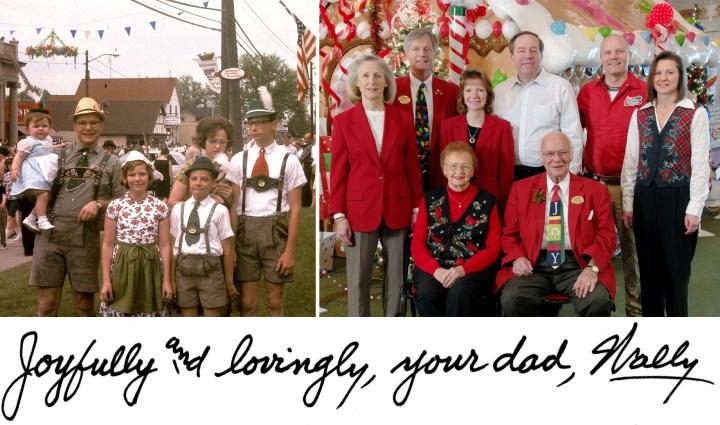 Wally Bronner and family from Bronner's CHRISTmas Wonderland.