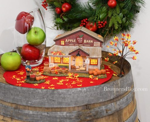 Apple Barn display from Department 56 for fall