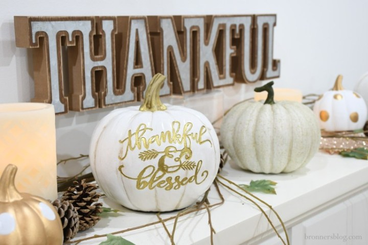 Beautiful Blessed Fall Decor