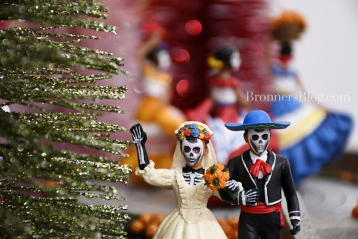 Day of the Dead bride and groom in Department 56 for fall