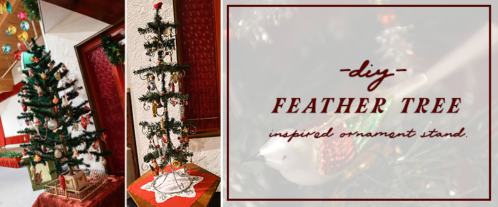 DIY Feather Tree inspired Ornament Stand How To