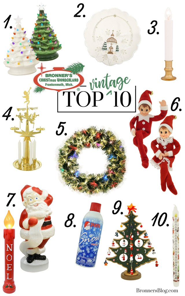 Top 10 Vintage Products At Bronner's for Christmas 2019.