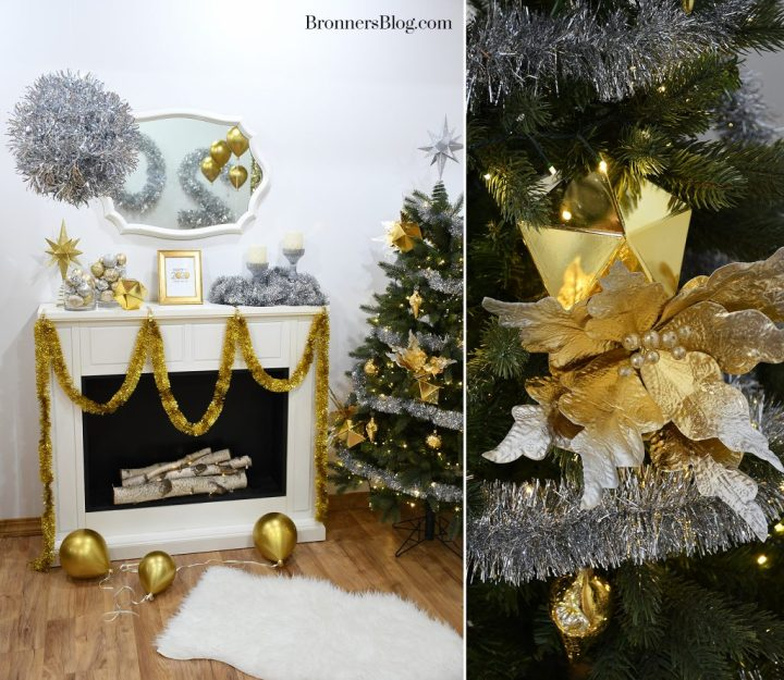Silver and Gold mantle decorations