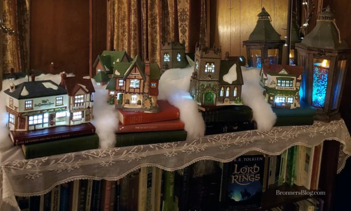 Department 56 Bookshelf Village Display Idea