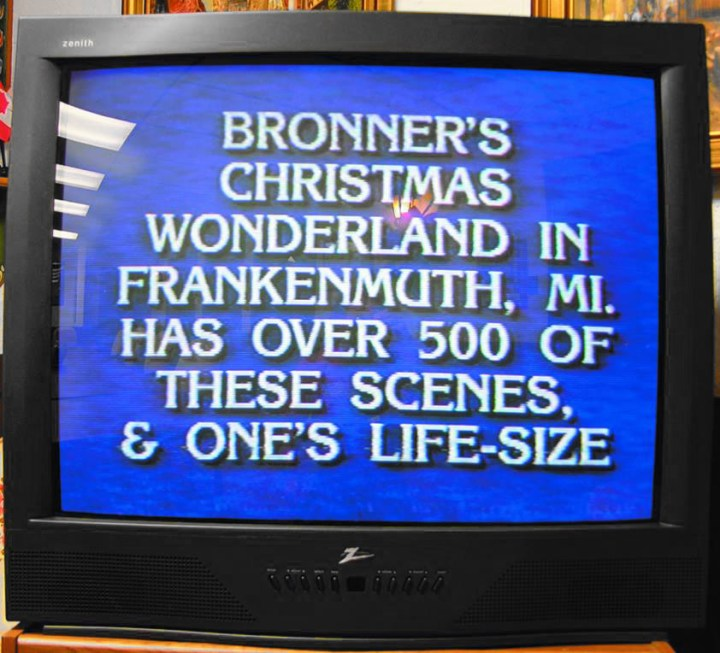 Bronner's trivia appears as a question on the game show Jeopardy.
