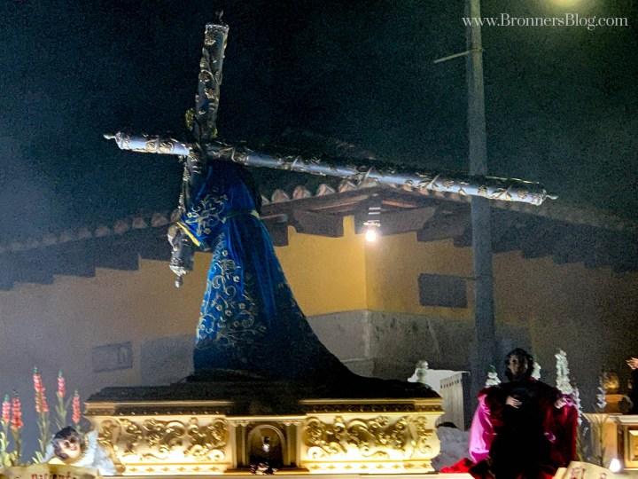 Crucifix during Santa Semana Processional.