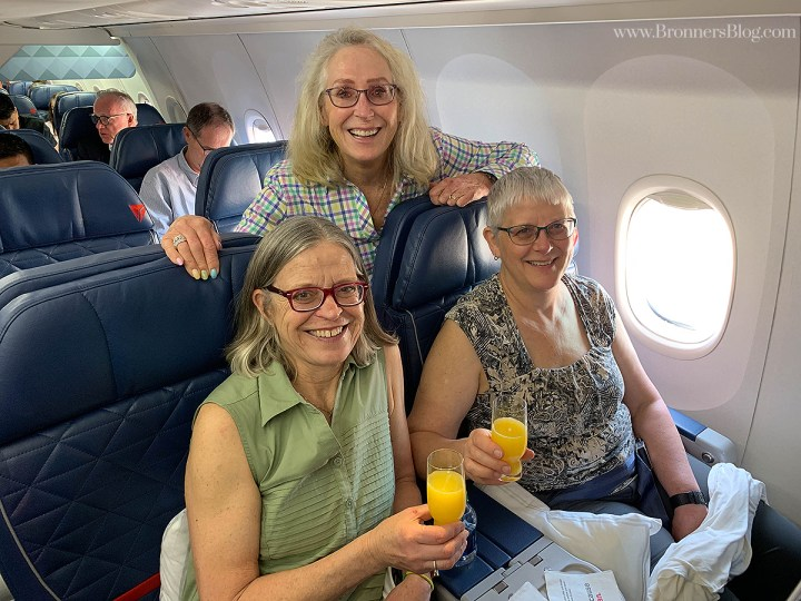Lorene Bronner and Sisters board an Antigua bound flight for Santa Semana.