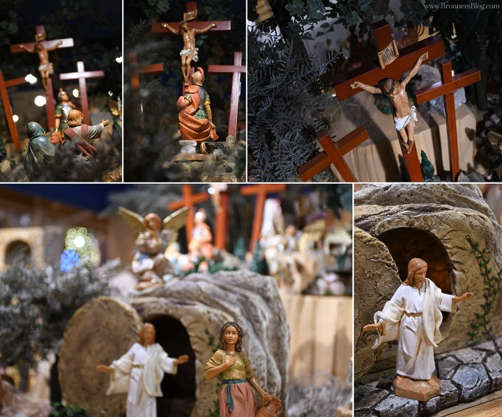 "Pieces from the ""Life of Christ"" Fontanini collection on display at Bronner's CHRISTmas Wonderland."