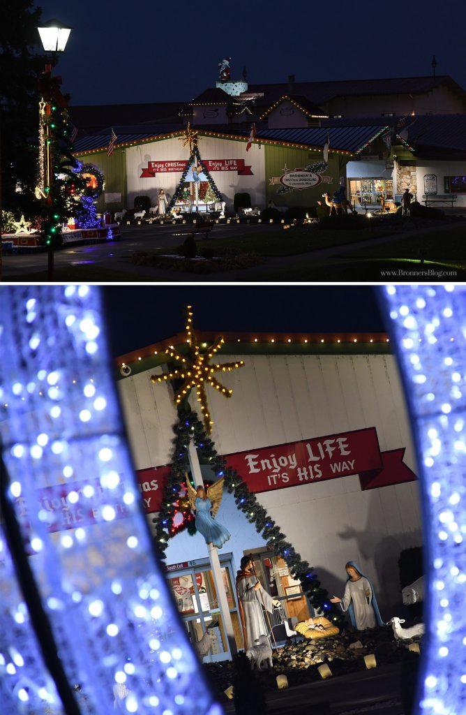 Life-size nativity scenes at Bronner's CHRISTmas Wonderland.