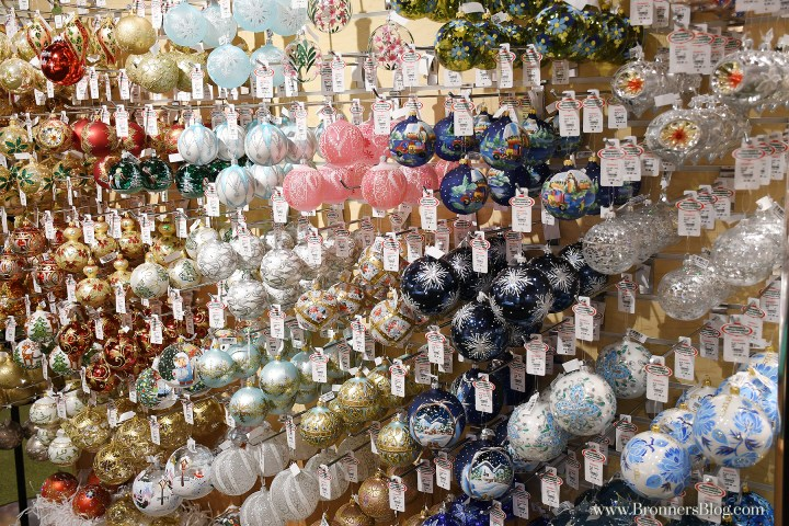 European made glass ornaments at Bronner's CHRISTmas Wonderland in Frankenmuth, Michigan.