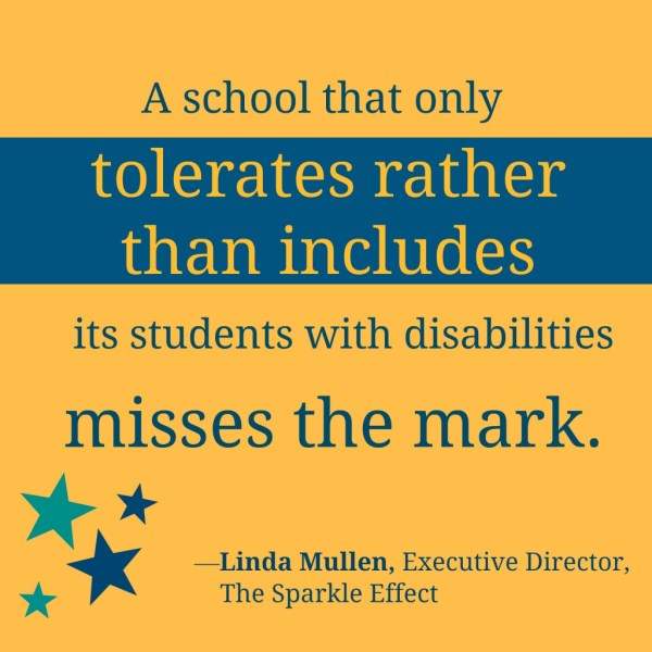 Inclusion With Sparkle Effect & Linda Mullen