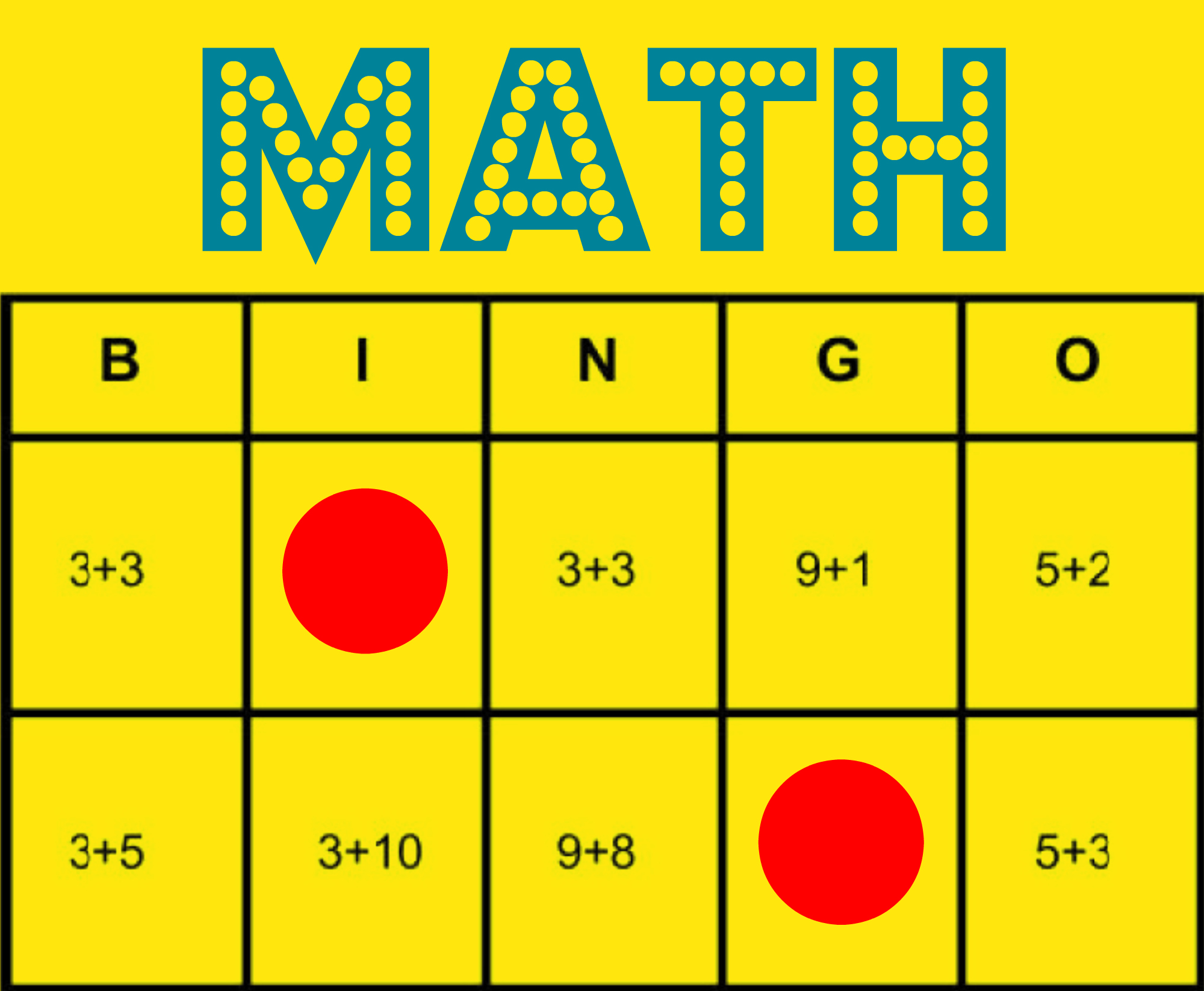 Math Bingo Free Printable Game To Help All Students Learn