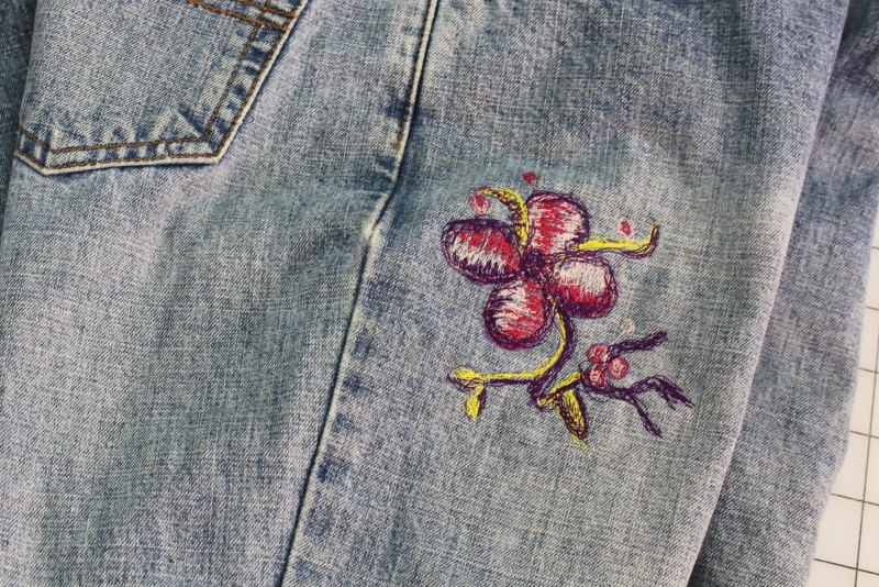 Embellishing Jeans with Free Motion Embroidery - Enjoy your new Jeans!
