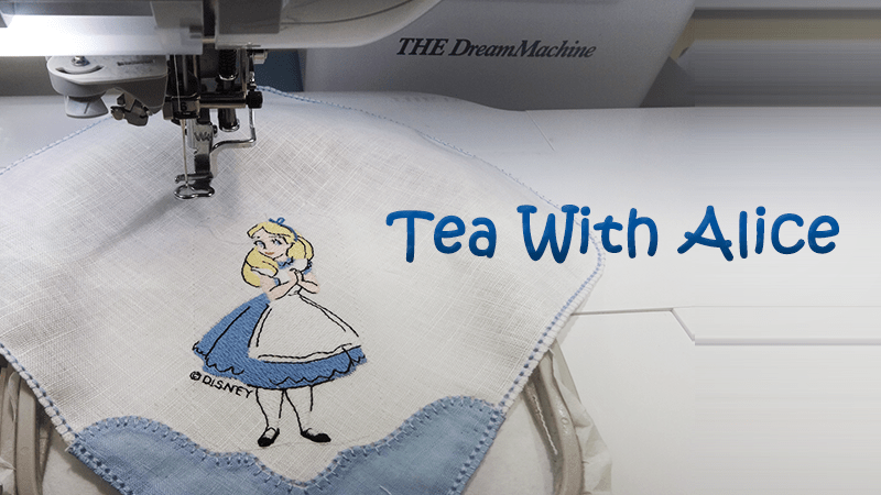 Tea Time Linens with Alice in Wonderland