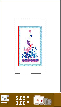 Fig1b Embroidery Design with frame