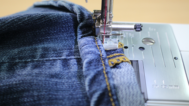 Hemming Jeans While Keeping Original Hem Stitching Sewcial Stunning Hemming Jeans Sewing Machine