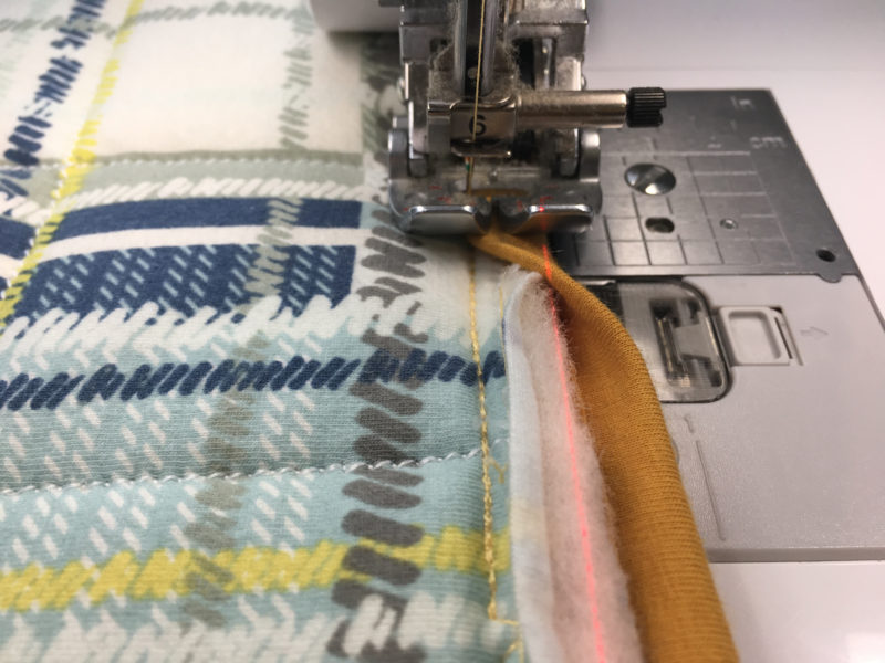 Whole Cloth Knit Quilt 5