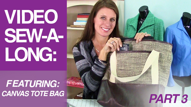 Video Sew-A-Long: Canvas Tote Bag: Part 3: Straps/Base