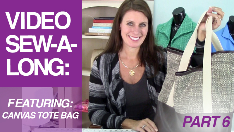 Video Sew-A-Long: Canvas Tote Bag: Part 6: Finishing