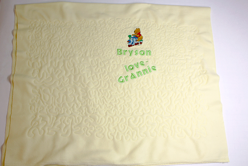 Embroider and Quilt an Adorable Fleece baby Blanket