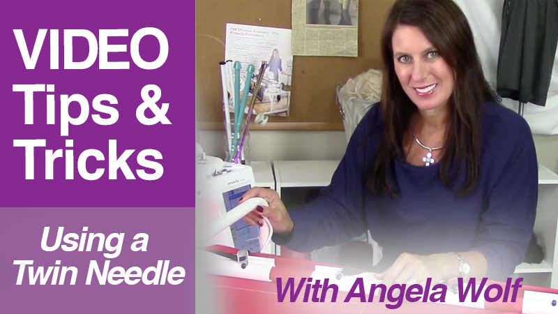 Video: Angela Wolf using a Twin Needle for Quilting