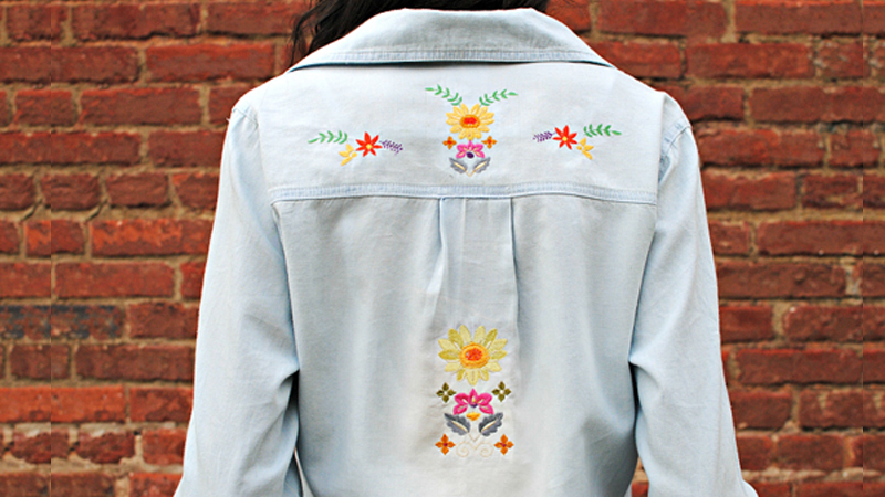 Update an Old Shirt with Embroidery