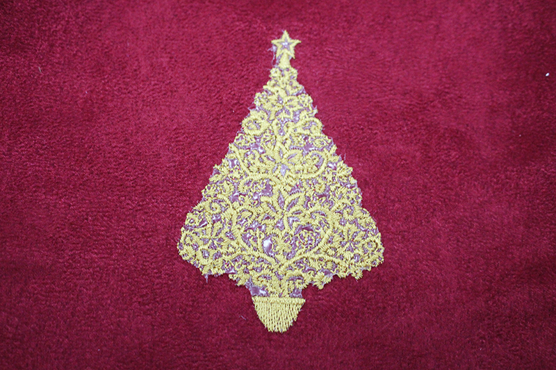 Cute christmas tree applique