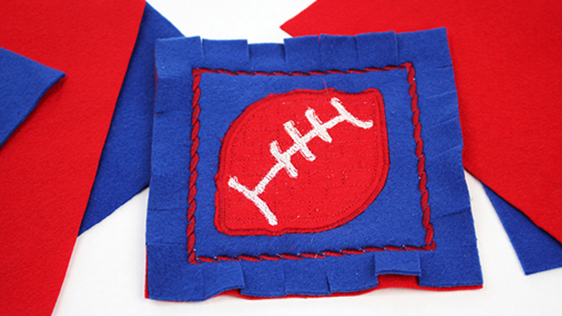 DIY Project: Embroidered Football Coasters