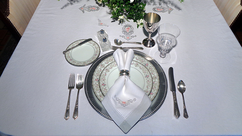Elegant Embroidered Table Linens