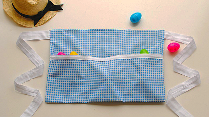 A Fun Egg Collecting Half Apron