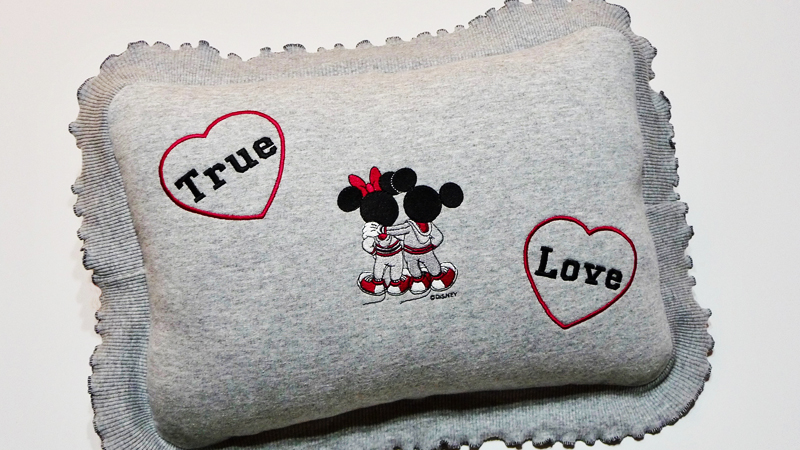 Disney Mickey Mouse & Minnie Mouse True Love Pillow